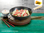ALDI Carbon Steel Wok 30cm in Non Stick Black or Polished Silver Finish $7.99 15 Jan Onward