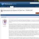Malwarebytes Anti-Malware 2.0 Beta: - Chance to Try It before You Buy The Newegg Deal