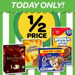 Woolworths - Half Price Golden Gaytime, Magnum, Cornetto, Paddlepop (Today Only)