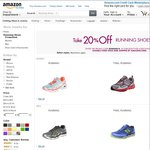 Save 20% off Eligible Running Shoes + FREE Shipping for Orders over $150 @ Amazon