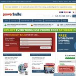 20% off Everything from PowerBulbs Using Promo Code FATHER20