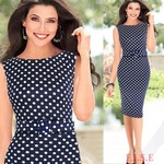Women Office Polka Dot Pencil Dress S - XXXL Size AU $14.88 Free Shipping @ AliExpress