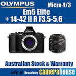 Olympus Em5 Elite with 14-42 II R F3.5-5.6 Lens Kit Black $479 @ CameraHouse eBay Store