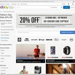 eBay 20% off Participating Stores for Father's Day [MAX $300 Discount]