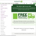 Woolworths Free Delivery Wednesdays - Min Spend $150