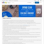 eBay: Spend $200 (by 30 June) and Get a $50 Voucher (to Spend by 31 August)
