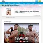 Win 1 of 10 Bad Neighbours 2 DVDs worth $30 @ StudentEdge