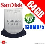 $1 Shipping Sitewide | SanDisk Ultra Fit USB 3.0 Flash Drive 64GB $18.95, 128GB $37.95 Posted @ ShoppingSquare