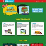 Bega Cheese - Buy Two Products to Claim Personalised Kids Lunch Bag ($4.40 Postage)