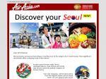 Australia to Seoul, Korea (Via KL) from AU $162 One Way with AirAsia X