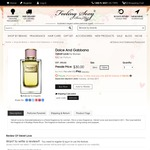 Dolce and Gabbana - Velvet Love for Women 150 Ml for $30 + Delivery (Original RRP $395) @ Feelingsexy