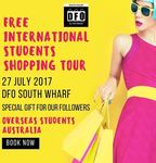 Free International Shopping Tour with Freebies and Snacks @ DFO South Wharf, Melbourne
