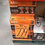 AEG 18V 3 Piece Kit - $229 @ Bunnings