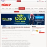 Win $6,000 Cash +/- 1 of 8 $2,000 Cash Prizes from Seven Affiliate Sales/William Hill [ACT/NSW/QLD/VIC/WA]