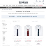 T.M. Lewin - Shirts & Ties $35ea, Everything Else 30% off (Black Friday)