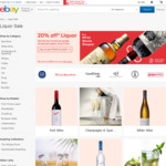 20% off Liquor (Selected Sellers) @ eBay