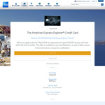 American Express Explorer $395 Fee 100,000 Bonus Member Rewards Points + $400 Travel Credit