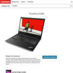 "ThinkPad E480 - i5 8250U / 16GB / 256GB SSD / 14"" FHD - $874.03 Shipped @ Lenovo"
