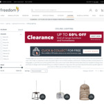 Clearance 180cm Suspension Pendant $5-$10 (Was $10-$39), $5 Globe, More Pendant/Wall/Ceiling Light Sale (Free C&C) @ Freedom