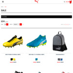 Free Express Shipping (No Min Spend):E.g. Mens Football Boots/ Training Shoes $20/ Pair, 24L Backpack $20 Shipped & More @ Puma