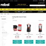 Nitro Bike Tube from $1, Maxxis Tyres from $7, Netti Ladies Cycling Apparel from $5 from rebel