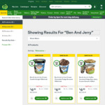 Ben and Jerry's 458ml Tubs 50% Off ($6 - $7) @ Woolworths Online