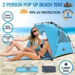 OGL 2 Person Hiking Camping Pop up Outdoor Waterproof Beach Tent w/Carry Bag $7.99 (Was $99.95) + Delivery @ Crazy Sales