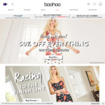 50% off Sitewide (Excludes Sale & Disney Items) @ Boohoo