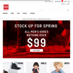 All Men's Shoes $99 & under, All Mens Boots $149 & under, Free Shipping for Order $99 & over @ Shoe Warehouse