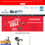 Boxing Day Sale - Extra 25% off All Fishing Gear - Store Wide and Free Shipping @ Adore Tackle