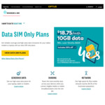 Optus Data Only 10GB SIM Card $18.75 Per Month (Was $25) - 12 Month Plan @ Optus