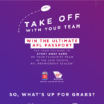 Win a Trip to Every Away Game of Your AFL Team for 2 Worth $21,728 from Virgin Australia