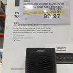 Bose SoundLink Colour Bluetooth Portable Speaker $99.97 @ Costco (Membership Required)
