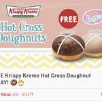 Free Krispy Kreme Hot Cross Doughnut Today via 7/11 Fuel App