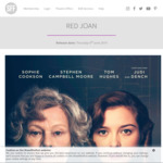 [VIC, NSW, QLD, SA, WA] Free Movie Tickets to Red Joan @ ShowFilmFirst (Membership Required)