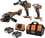 AEG 18V 5.0Ah 3 Piece Brushless Combo Kit $399 @ Bunnings