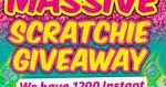 Win 1 of 300 $20 Scratch-It Packs from Bauer Media