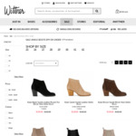 All Sale Ankle Boots $99 at Wittner Shoes