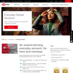$100 Bonus for Opening a New HSBC Everyday Global Account and Depositing $2000 or More Per Month for Three Consecutive Months