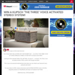 Win a Klipsch 'The Three' Wireless Stereo System Worth $999 from Australian Radio Network