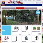 "29"" Mountain Bike $399, Bike Storage Rack $49.99, Hydration Backpack $29.99 @ ALDI"