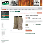 Ridgeline Moray Shorts with Belt $15 (Was $64.95) + $11 Delivery @ Ridgeline Clothing
