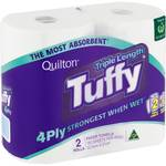 1/2 Price: Quilton Tuffy Paper 4ply Towel Triple Length 2 pack $3.40 ($0.94 / 100SS) @ Woolworths (Online Only)