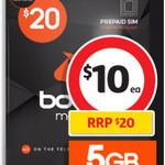 ½ Price Boost Mobile Prepaid $20 SIM (Unlimited Txt&Talk and 5GB Data) - $10 @ Coles (in-Store Only)