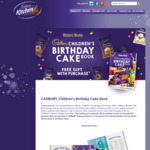 Free Cadbury Birthday Cake Book with Purchase of 3x Cadbury Baking Products @ Coles