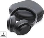 Bauhn Premium Audio Bluetooth Active Noise Cancelling Headphones Gun Metal Grey Model HE190067 $79.99 @ ALDI