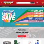 30% off $200 | 25% off $150-$199.99 | 20% off $100-$149.99 RRP @ Supercheap Auto