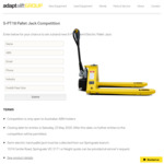 Semi-Electric Hand Pallet Jack Giveaway from Adaptalift Group