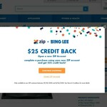 $25 Bing Lee Credit When Paying with ZIP Pay (New Accounts)