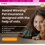 Knose Pet Insurance: $20 Cashback after Paying The Third Monthly Premium (New Customers Only)